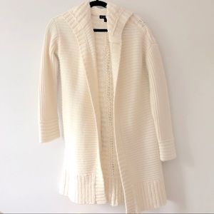 Banana Republic hooded cable knit cardigan sweater